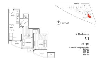 Harbour View Garden Floor Plan 1 Bedroom - A1