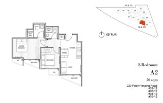 Harbour View Gardens Floor Plan 2BR - A2