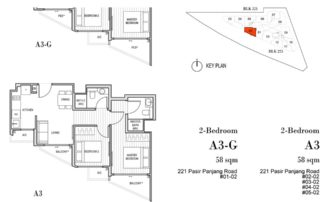 Harbour View Gardens Floor Plan 2BR - A3