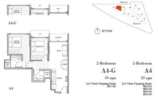 Harbour View Gardens Floor Plan 2BR - A4