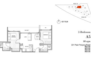 Harbour View Gardens Floor Plan 2BR - A5