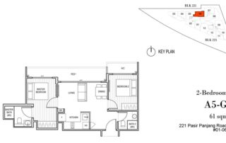 Harbour View Gardens Floor Plan 2BR - A5-G