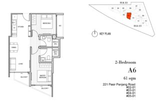 Harbour View Gardens Floor Plan 2BR - A6