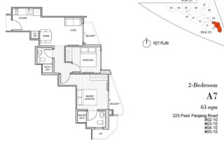 Harbour View Gardens Floor Plan 2BR - A7