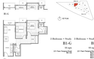 Harbour View Garden Floor Plan 2 Bedroom - B1