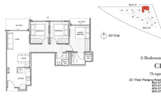 Harbour View Garden Floor Plan 3 Bedroom - C1