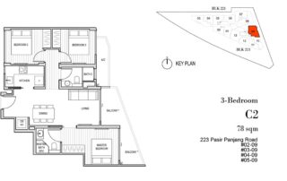 Harbour View Gardens Floor Plan 3BR+S - C2