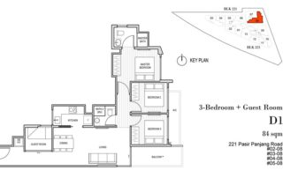 Harbour View Gardens Floor Plan 3BR+Guest - D1