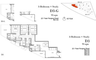 Harbour View Gardens Floor Plan 3BR+Guest - D3